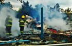 Completamente destruida por un incendio resultó posta de isla Cailín