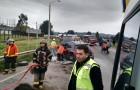 Con lesiones leves resultó conductor de automóvil que se volcó en Putemún