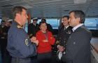 Oceanógrafa explica trabajo investigativo tras desembarcar del Buque Cabo de Hornos