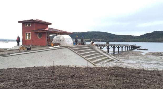 Finaliza construcción de rampa en sector Blanchard de Quellón