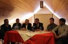 Senador y candidatos socialistas brindan apoyo a candidatura de Nelson Águila