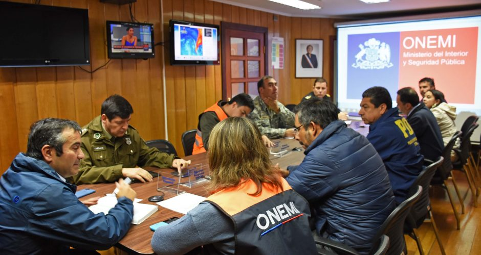 Coe Regional se reune para coordinar acciones preventivas ante frente de mal tiempo.