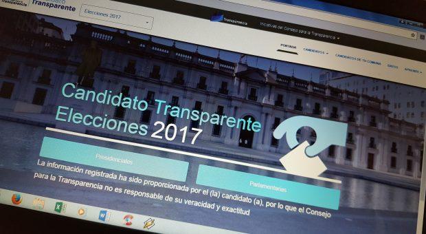 """Nacional: Consejo para la Transparencia lanza nueva edición del sitio """"Candidato Transparente""""."""