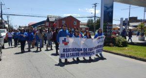 Castro: alta convocatoria en marcha de trabajadores del sector público.
