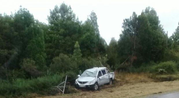 Dalcahue: accidente de transito se registró en sector Butalcura.