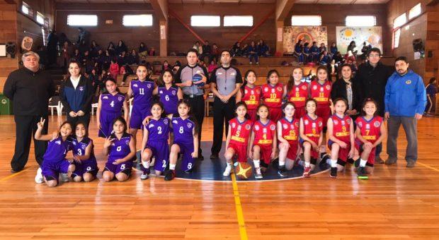 Básquetbol femenino se jugó en Chonchi